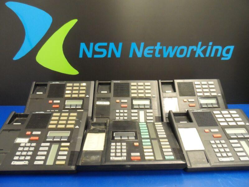 Lot of 6x Nortel Meridian M7310 M7324 Black Phones NO Handsets Sold As Is