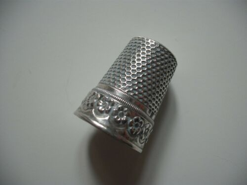 Silver Thimble Flower and Design Star of David on Top