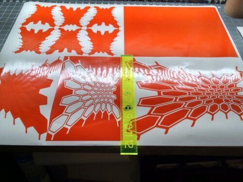 KRYPTEK12x14 4 pcs High Temp Vinyl Adhesive Stencil Cerakote Duracoat Krylon
