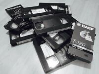 VHS and 8mm tapes to Digital format
