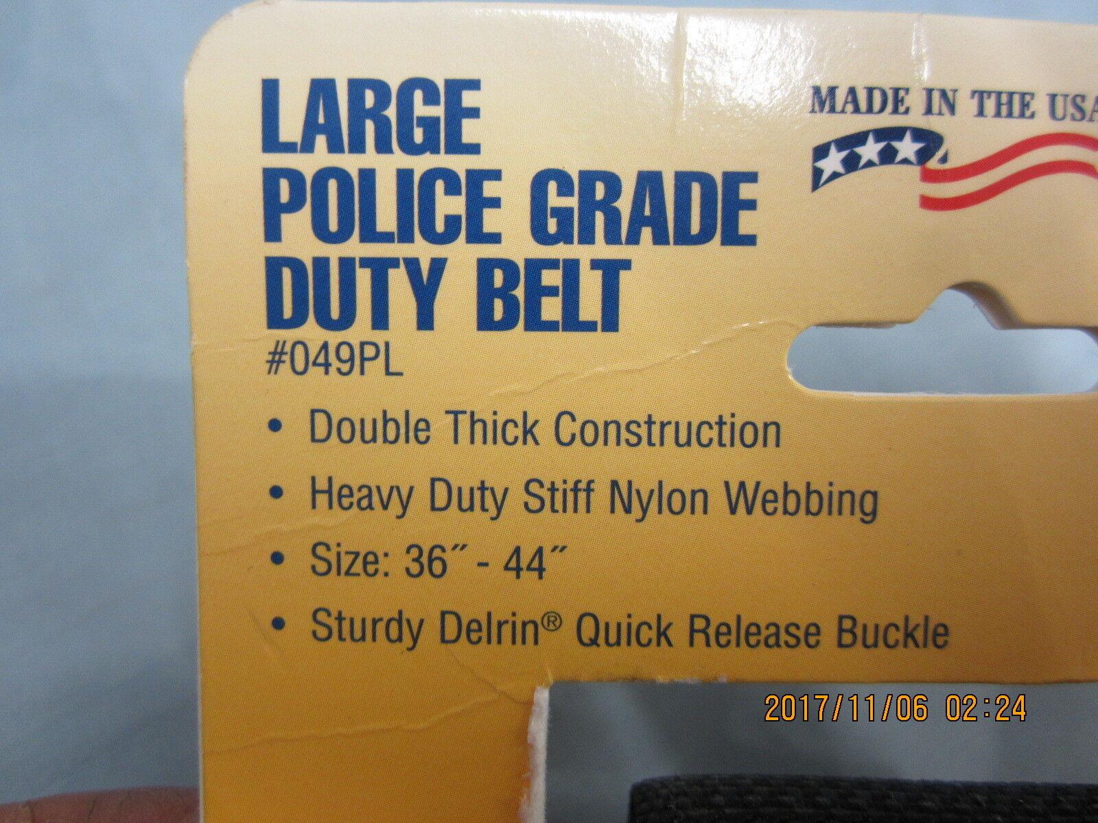 "New Raine Police Grade Duty Belt 2"" New 049PL 36-44"" New"