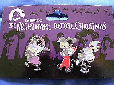 Disney * NIGHTMARE - LOCK SHOCK BARREL * 3 Pin NBC Set New on Card Trading Pins