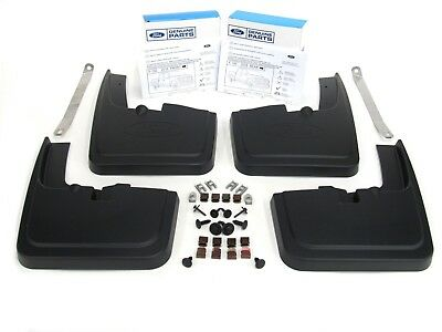 2015-2018 Ford F-150 Front Rear Black Molded Splash Guards Mud Flap With Lip OEM