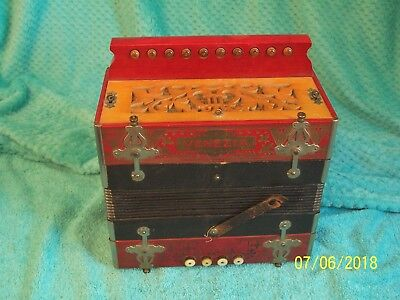 VENEZIA 1 row Accordion button box Accordian Hohner Germany key of D  G Cond
