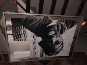 Eminem and Tupac Posters on Large IKEA picture frame