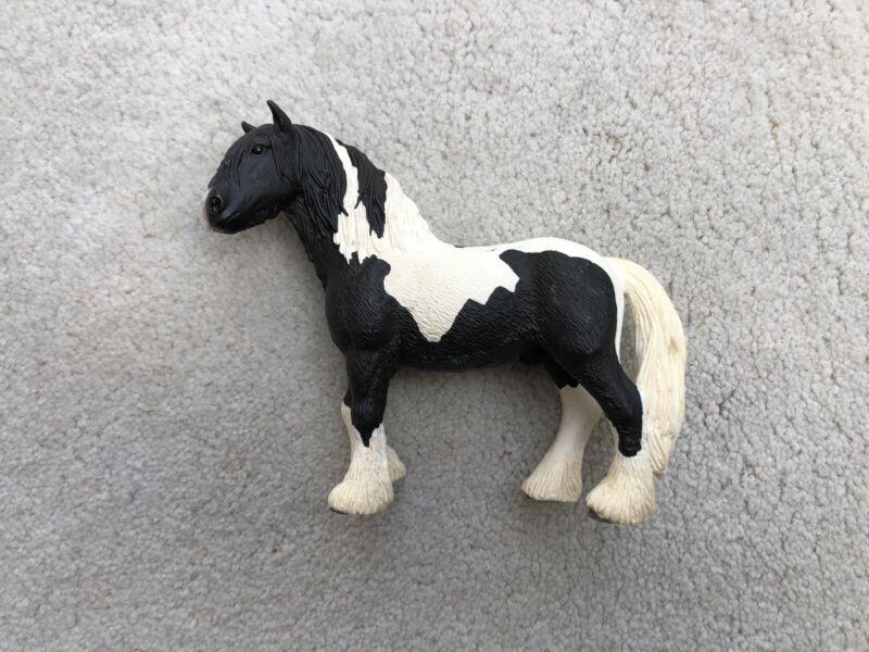 Retired Schleich Safari Horse Tinker Stallion Gypsy Vanner #13791 Black Rare