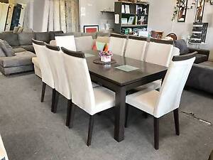 TODAY DELIVERY 9 pcs MODERN CHOCOLATE dining table and chairs Belmont Belmont Area Preview