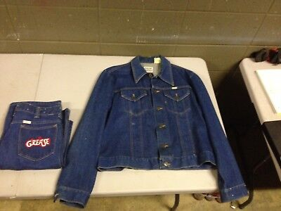 Rare HTF Sedgefield Grease Mens Denim Jacket and Pants Movie Memorabilia (ddc32) - Grease Movie Wardrobe