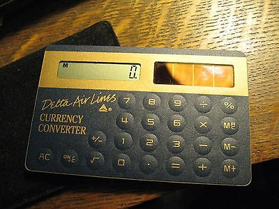 Delta Airlines Calculator   Vintage Air Lines Solar Powered Currency Converter