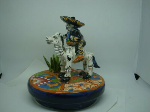 Charro on a Horse, Talavera Mexican Art.