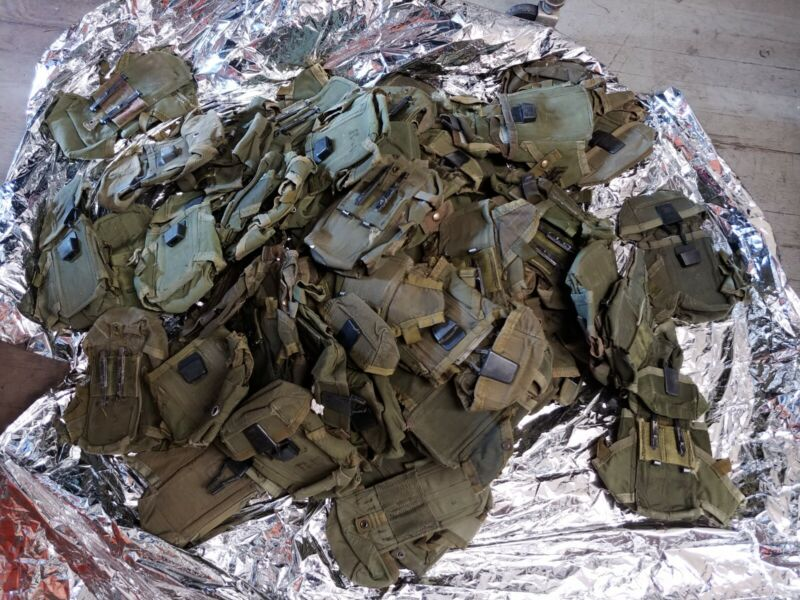 US Military Army USMC OD Ammo Case Pouch LC1 Alice Mag Pouches Used LOT OF 60
