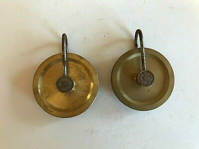 Pair of Grandfather Clock Pulleys