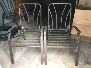 Patio chairs without cushions