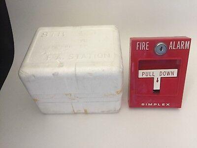 New Simplex 4251-31 Fire Alarm Pull Station For Break Glass Wbox