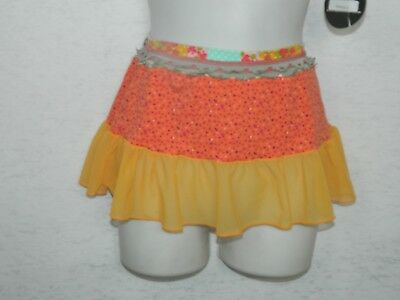 MAAJI Girls Swimsuit Cover Up Skirt Orange Floral Skirt Size 12  for sale  Inglewood
