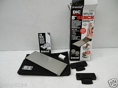 "TREND DIAMOND CROSS 8"" BENCH SHARPENING STONE DC/W8/FC + DIAMOND CREDIT CARD"