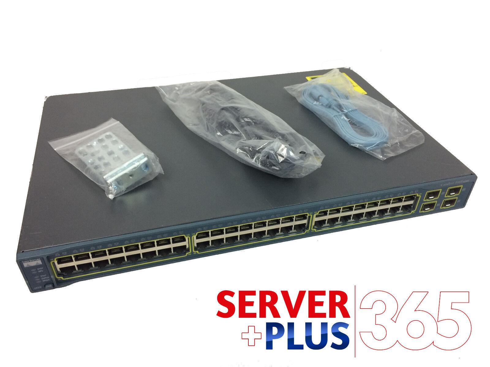 4 SFP POE Switch 15.0 IOS CISCO WS-C3750V2-48PS-S 48 Ethernet 10//100 ports