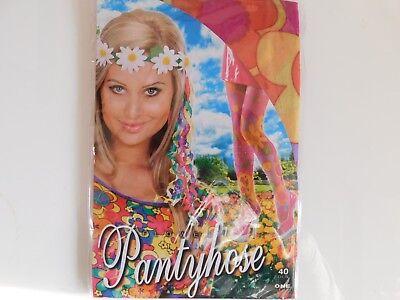 PANTYHOSE Flowers Neu Karneval Hippie Strumpfhose ONE SIZE