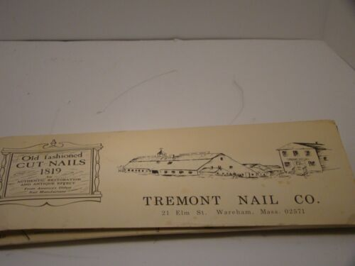 Tremont Nail Co. Old Fashioned Cut Nails 1819 Sampler Display History