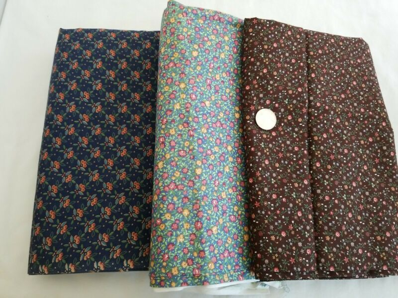 Vintage Calico Print Tiny Flowers Fabric Cotton LOT 7.75 YARDS