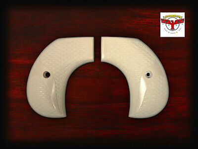 RUGER BIRDSHEAD VAQUERO MAGNA-TUSK™ FISHSCALE IVORY GRIPS (QR) ~ BIRDS HEAD  (Ivory Tusks)