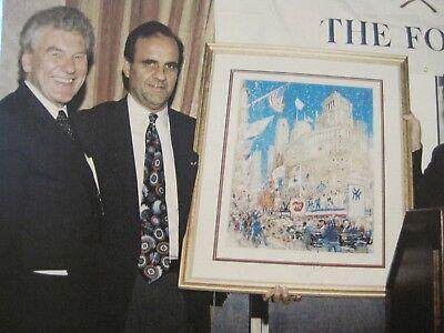 RARE NEW YORK YANKEES 1996 WORLD SERIES BASEBALL-PARADE CELEBRATION W/ DIMAGGIO