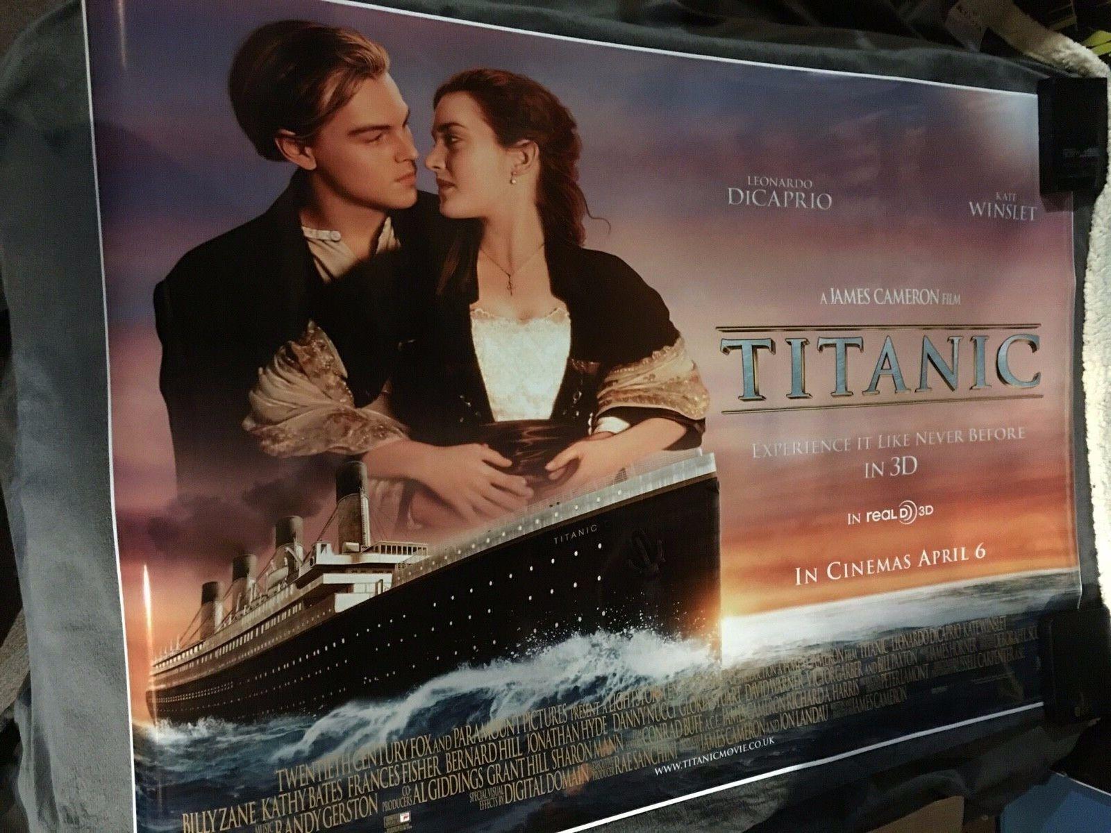 TITANIC Movie POSTER 24x36 inches 1998 Leonardo DiCaprio