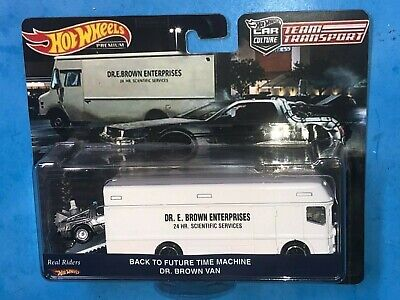 HOT WHEELS TEAM TRANSPORT BACK TO THE FUTURE TIME MACHINE DR. BROWN VAN LIMITED