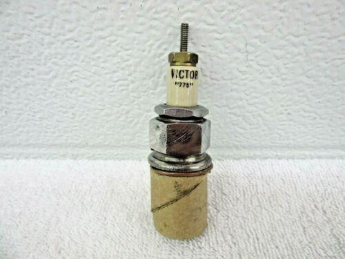 """Antique Vintage Victor """"775"""" Spark Plug 7/8"""" thread Collectible  dp"""