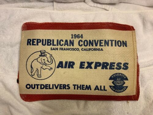 1964 Republican Convention Air Express Priority mail bag