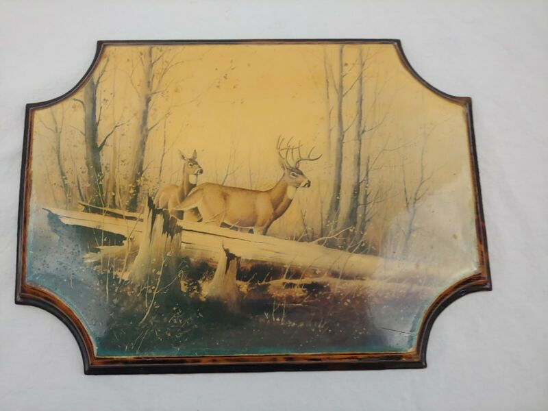 Hand Crafted Deer Painting Wall Hanging Charlie