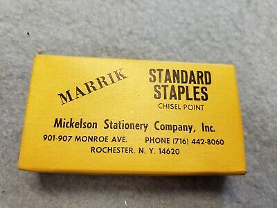 Vintage Bostitch Swingline Chisel Point 5000 Standard Staples 14 1cp Free Ship