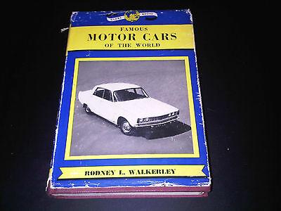 Famous Motor Cars of the World Book Rodney L. Walkerley Globe Books 1964