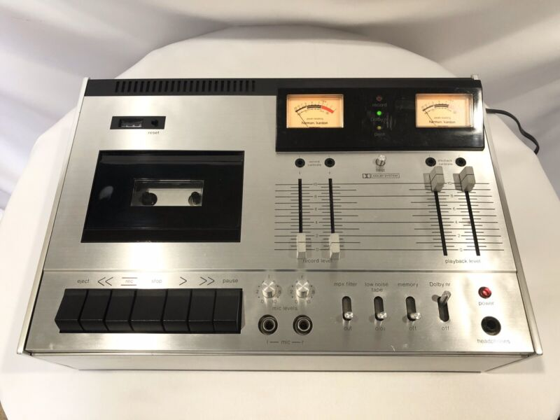 Vintage Harman/Kardon HK 2000 Cassette Tape Deck System preamp *Tested/Works*