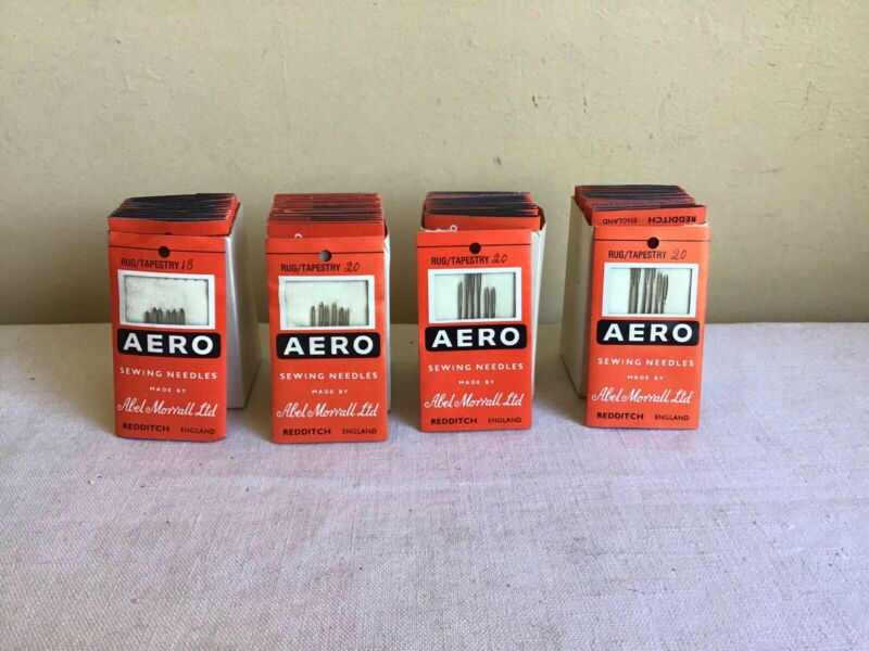 Mixed Lot Of 71 Packets New Old Stock Vintage Aero Rug Tapestry Sewing Needles