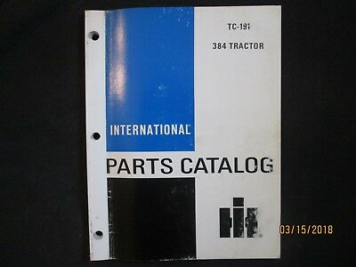 International Ih 384 Tractor Parts Manual Catalog Book Factory Original 1982 Oem