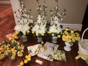 Lemon themed bridal shower decor