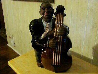 Vintage Black America Collectors Bass Man Cookie Jar