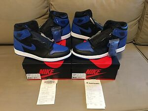 "2017 Air Jordan 1 Retro ""Royal"" size 11.5 DS"