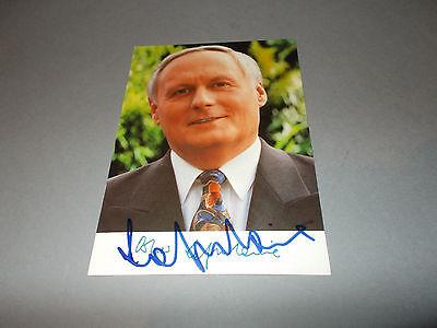 Oskar Lafontaine  signed  signiert  Autogramm auf Autogrammkarte