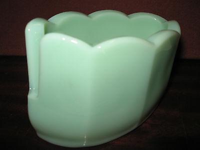 Jadeite green milk glass Spoon table rest holder jade jadite spooner serving art