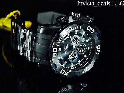 NEW Invicta Men's 50mm Pro Diver Scuba Triple Combat Black Stainless Steel Watch