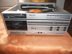 Sharp VZ-1500H Schallplattenspieler beidseitige Wiedergabe Tape Radio Rarität