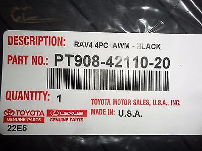2007 2012 Toyota Rav4 BLACK All Weather Floor Mats 4 PC PT908 42110 20 NEW OEM