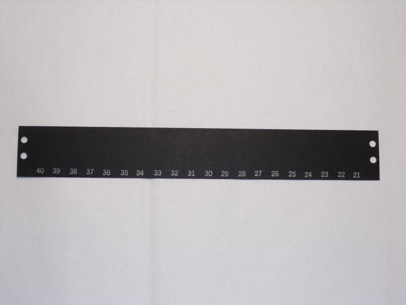 CINCH-JONES TRW MS20-141 40-21LR TERMINAL BLOCK MARKER STRIP 20 POS LOT OF 2 NNB
