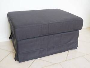Stupendous Ikea Ektorp Foot Stool Storage Ottoman Black Stools Bar Ibusinesslaw Wood Chair Design Ideas Ibusinesslaworg