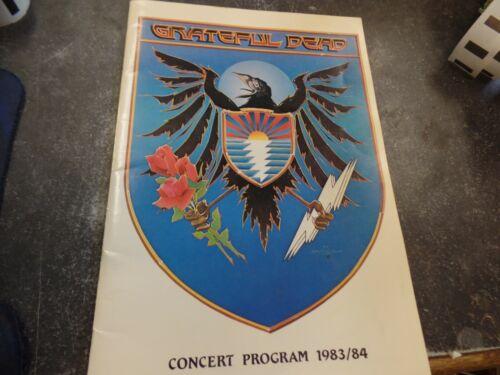 GRATEFUL DEAD 1983/84 concert program Rick Griffin Stanley Mouse