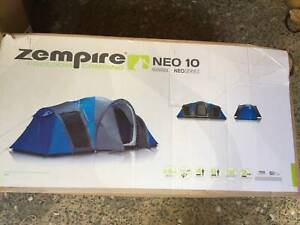 Zempire - Neo 10 Dome Tent - 8P Tent - Three Room With Divider - NEW