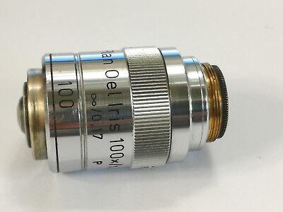Lens For A Microscope Reichert Plan Oel Iris 100x 1.25 488582 0.17 P