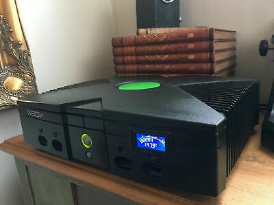 TSOP Region Free 80gb Black Microsoft Original Xbox Console & LCD Screen HARDMOD